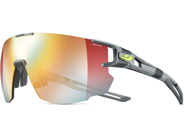 Julbo Aerospeed Zebra Light Red Lunettes de soleil, grey/yellow/multilayer red